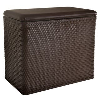 LaMont Home Carter Chocolate Bench Hamper|https://ak1.ostkcdn.com/images/products/8199424/P15533691.jpg?impolicy=medium