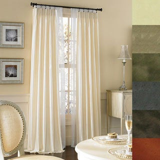 Brielle Dupioni Pure Silk-lined Pinch Pleat Curtain Panel