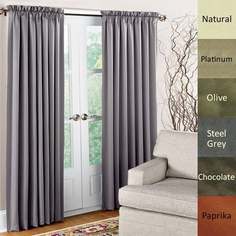 Brielle Dupioni Pure Silk Rod Pocket Curtain Panel