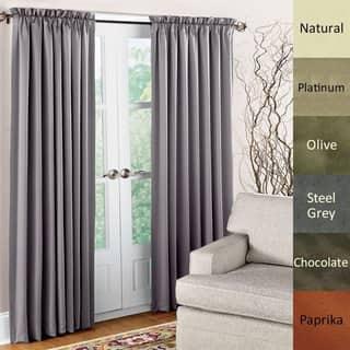 Brielle Dupioni Pure Silk Rod Pocket Curtain Panel (2 options available)