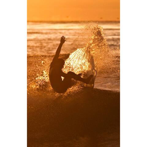 Nicola Lugo 'Surf' Acrylic Art