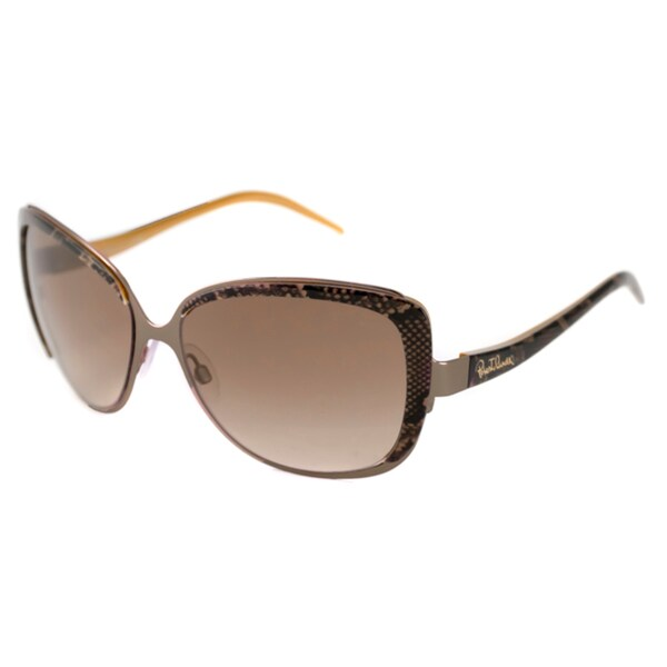 Roberto Cavalli Women's RC654S Rosmarino Rectangular Sunglasses with Plastic Temples