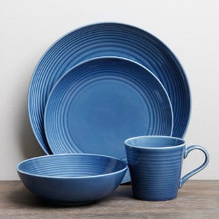 Shop Gordon Ramsay Maze Denim 16 Piece Dinnerware Set