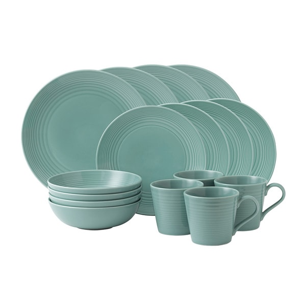 Shop Gordon Ramsay Maze Teal 16-piece Dinnerware Set - Free Shipping ...