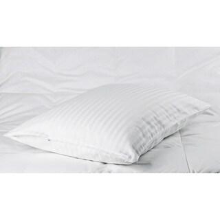 Cotton Sateen Woven Stripe Pillow Protectors (Set of 2)