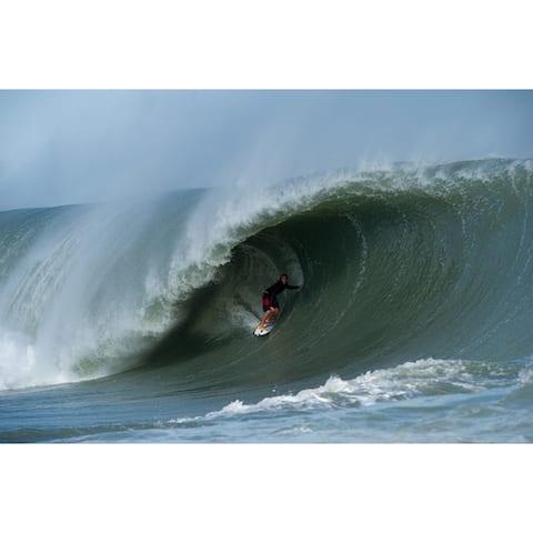 Nicola Lugo 'Hurricane Sandy' Acrylic Surf Art