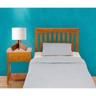 Mantua Rake Style Golden Oak Finish Headboard