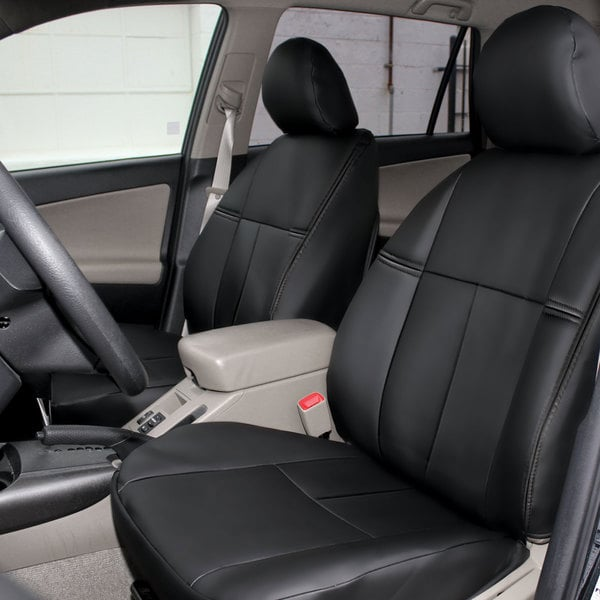 FH Group Custom Fit Black Leatherette 2006-2010 Toyota RAV4 Seat Covers (Front Set)