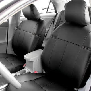 FH Group Custom Fit Black Leatherette 2009 2011 Toyota Corolla Seat Covers Front Set