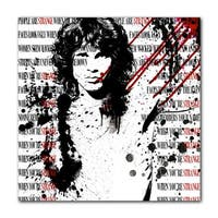 Ready2HangArt 'Jim Morrison' Acrylic Wall Art - White