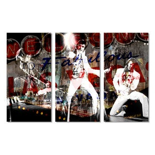 Ready2HangArt 'Elvis in Vegas' 3-piece Acrylic Wall Art Set - Multi-color
