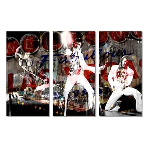 Ready2HangArt 'Elvis in Vegas' 3-piece Acrylic Wall Art Set - Multi-color