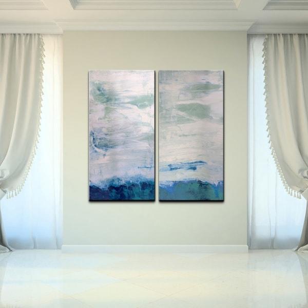 2 Piece Canvas Wall Art ready2hangart 'abstract' oversized 2-piece canvas wall art - free