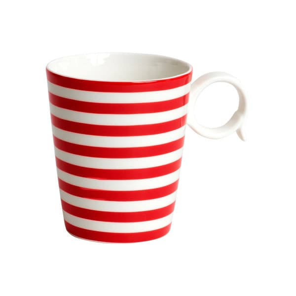 Red Vanilla 'Freshness' Mix & Match Red Striped Mugs (Set of 4). Opens flyout.