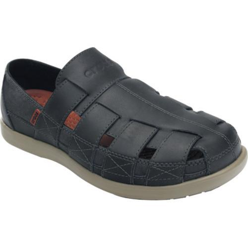 Men's Crocs Santa Cruz Fisherman Sandal Black/Khaki