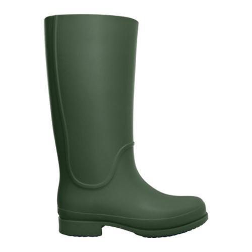 Women's Crocs Wellie Rain Boot Forest/Navy - Thumbnail 1