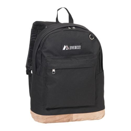 Everest Suede Bottom Backpack Black - Thumbnail 0