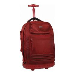 J World 20in Laptop Rolling Backpack Red