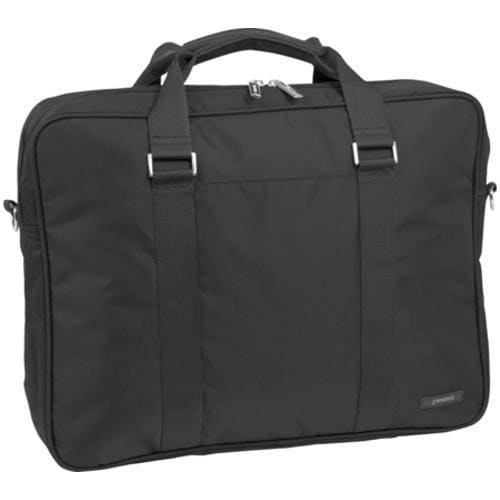 J World Laptop Brief Case with Extra Compartment 15in/15.4in Black