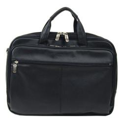 Kenneth Cole Reaction Manhattan 4.5in Double Gusset Top Zip Portfolio Black