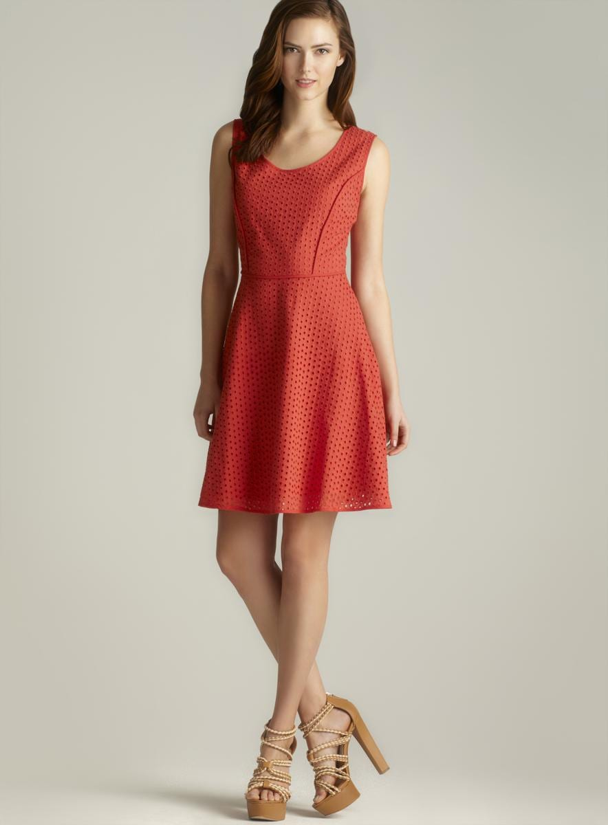 Max Studio Sleeveless Eyelet Cotton Dress Free Shipping