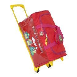 Children's Mercury Luggage Going to Grandma's Wheeled Duffle Red