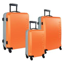 Nautica Ahoy Orange/Silver 3-piece Hardside Spinner Luggage Set