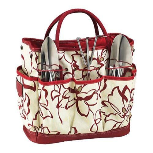 Picnic at Ascot Gardening Tote Set Red Floral