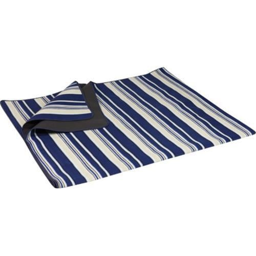 Picnic Time Blanket Tote XL Blue Stripes/Navy - Thumbnail 1