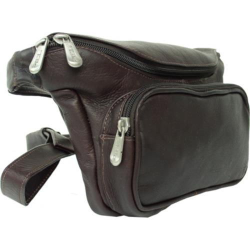 151344b8310c Shop Piel Leather Large Classic Waist Bag 9923 Chocolate Leather - Free  Shipping Today - Overstock - 8071279