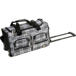 Rockland 22in Rolling Duffle Bag Black Cross