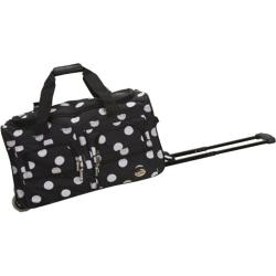 Rockland 22in Rolling Duffle Bag Black Dot