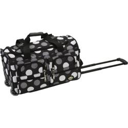 Rockland 22in Rolling Duffle Bag New Black Dot