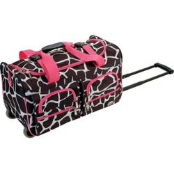 Rockland 22in Rolling Duffle Bag Pink Giraffe