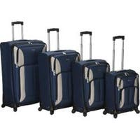 Rockland 4 Piece Impact Spinner Luggage Set F155 Navy