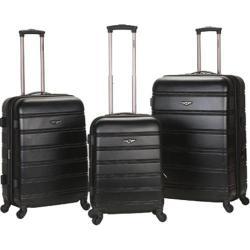Rockland Melbourne 3 Piece Luggage Set Black
