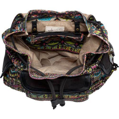 Women's Sakroots Artist Circle Backpack Neon One World