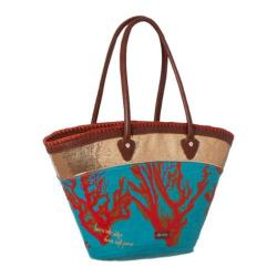 Women's Sakroots Artist Circle Beach Tote Water Nation Coral