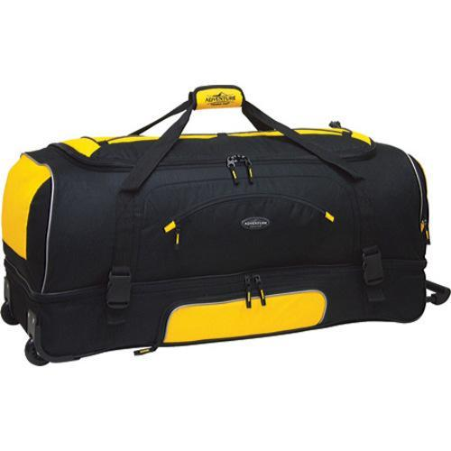 6eca829b4469 Shop TPRC 30in 2-Section Drop Bottom Rolling Duffel Yellow Black - Free  Shipping On Orders Over  45 - Overstock.com - 8073055