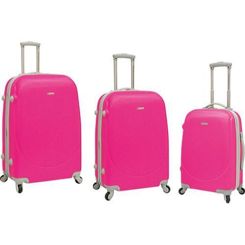 TPRC Barnet 3 Piece Hard-Side Expandable Luggage Set Neon Pink ...