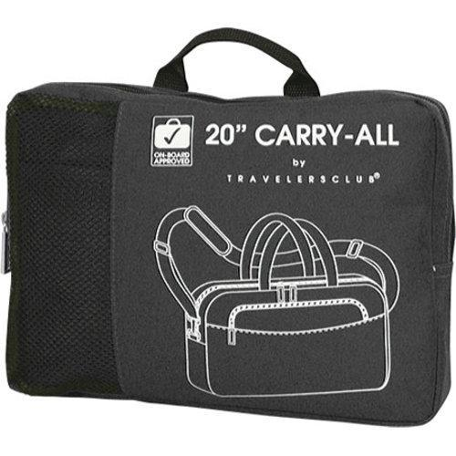 Travelers Club 20in Carry-All Duffel Black - Thumbnail 1