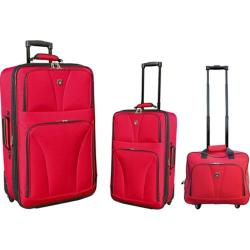 Travelers Club 3 Piece Traveler's Carry-On Set Red