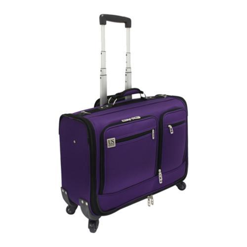 US Traveler 22in Carry-on Spinner Garment Bag Purple