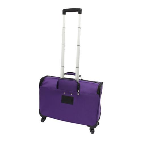 US Traveler 22in Carry-on Spinner Garment Bag Purple - Thumbnail 1