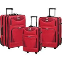 Travelers Club Tone on Tone Sky View 3 Piece Value Set Red