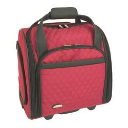 Travelon Wheeled Underseat Carry On w/BackUp Bag Red