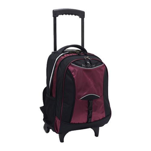 US Traveler Pacific Gear Lightweight Wheeled Backpack Burgundy