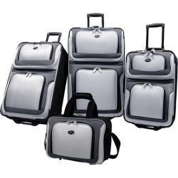 US Traveler New Yorker 4 Piece Luggage Set Grey