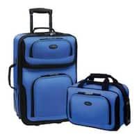 US Traveler Rio 2 Piece Expandable Luggage Set Royal Blue