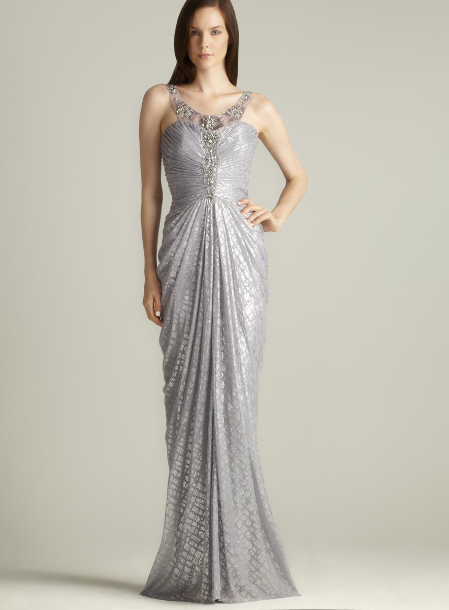 Adrianna Papell Beaded Full Length Foil Gown - Free Shipping Today ...